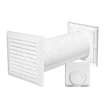 Ventilation Vent Grill Hot Air Distributor Extractor Duct Channel Fan Thermostat from Ducting