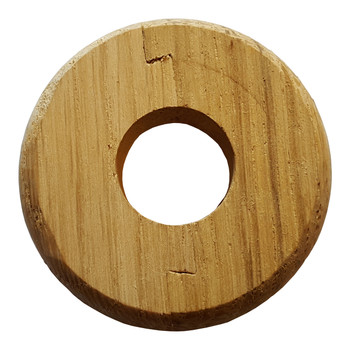 Small Nice Looking Wooden Rose Timbered Collar Pipe Hole Cover 15mm Diameter from Pipe covers  collars