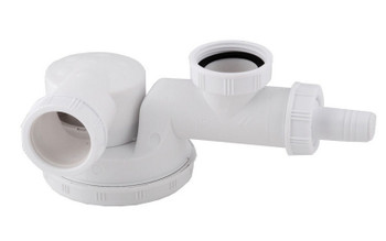 Single space saving kitchen sink drain waste trap 1/2 x 40mm dish washer input from Drain waste traps