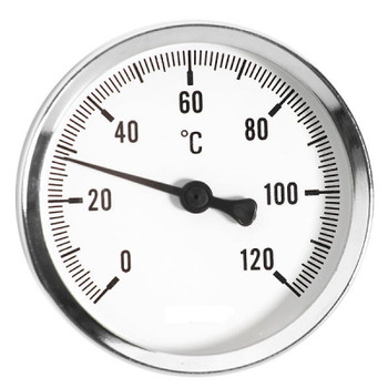 63mm 0-120C Thermo Water Temperature Gauge 1/2 Rear Entry Thermometer from Temperature gauges
