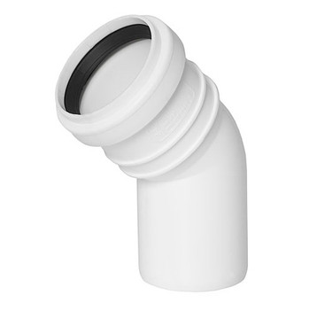 Sewage Installation Elbow Connector Joint 32mm Pipe Diameter 45 deg Angle from Waste pipe and fittings