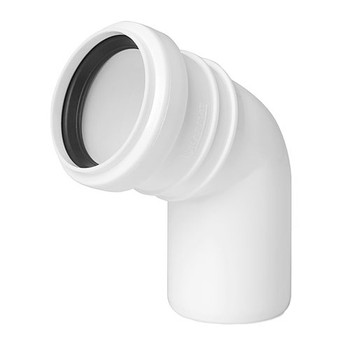 Sewage Installation Elbow Connector Joint 40 mm Pipe Diameter 67 deg Angle from Waste pipe and fittings
