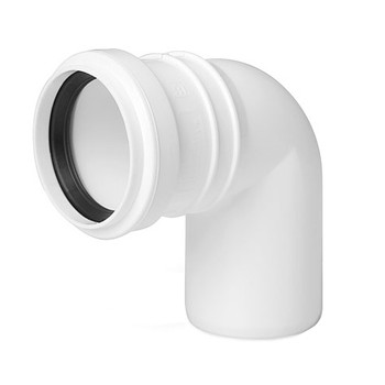 Sewage Installation Elbow Connector Joint 40 mm Pipe Diameter 90 deg Angle from Waste pipe and fittings