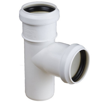 Sewage Installation Tee Connector Joint 40/40 mm Pipe Diameter 90 deg Angle from Waste pipe and fittings