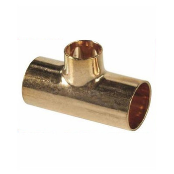 Straight Pipe Fitting Tee Copper Joint Solder 18x15x18mm Water Installation from Copper fittings