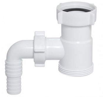 Drain Waste Trap Pipe Extension Connector 1 1/2 BSP with Dishwasher Input from Drain waste traps