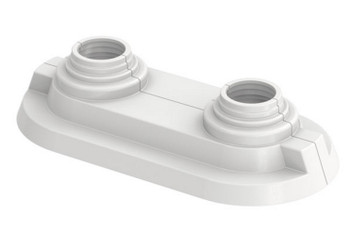 Double White Rosette Collar Rose Cover Pipe Holes Gaps Hiding Universal 14-20mm from Pipe covers  collars