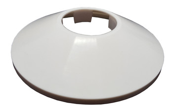 White Cone Shaped Collar Rose Cover for Pipe Holes Gaps Hiding 32mm Diameter from Pipe covers  collars