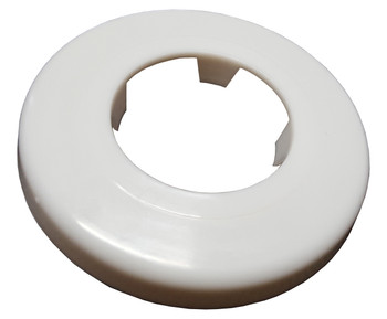 White Rosette Collar Rose Cover for Pipe Holes Gaps Hiding 40mm Diameter from Pipe covers  collars