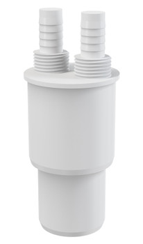White Plastic Reduction Connection Reducer to Waste 40/50xG1/2 Hose Connector from Waste pipe and fittings