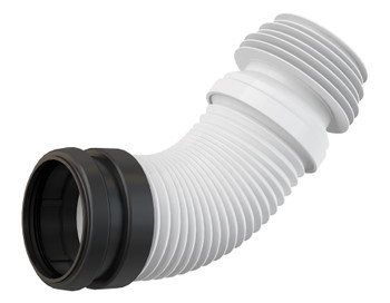 Universal Range Flexi Plastic Flexible WC Toilet Elbow Waste Connector 90/110mm from Waste pipe and fittings