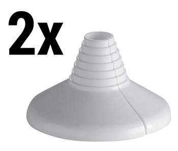 2x White Collar Water Pipe Plastic Cover Rose Rosette 10-22mm Universal Diameter from Pipe covers  collars