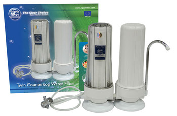 2 Stage Filtration System Countertop Double Drinking Water Filter with Faucet from Water filters