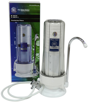 2 Stage Kitchen Countertop Water Filter Single Filtration System with Faucet from Water filters