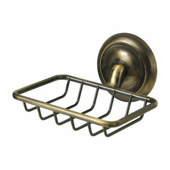 Retro Bathroom Antique Brass Wall Mounted Shower Soap Dish Holder Shampoo Tray from Soap dishes