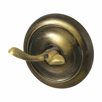 Retro Bathroom Antique Brass Wall Mounted Dressing-Gown Towel Double Hook Hanger from Towel rails and hangers
