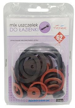 62 pcs of Bathroom Gaskets Universal Rubber Fibre Washer Set Various Sizes Types from Nuts Bolts and Washers