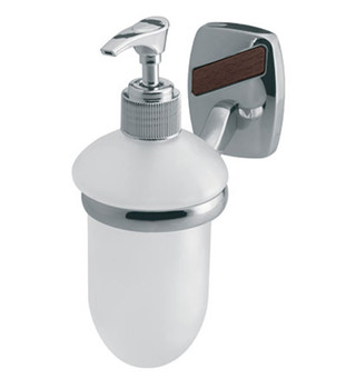 Wall Mounted Grip + Liquid Soap Tempered Glass Dispenser Bathroom Chromed Zamak from Soap dispensers