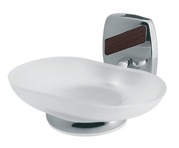 Wall Mounted Grip Tempered Glass Soap Dish Plate Bathroom Chromed Zamak from Soap dishes