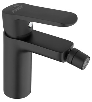 Bathroom Bidet Standing Faucet Mixer Single Lever Tap Black Powder Coated Brass from Basin taps