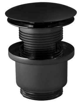 Black Powder Coated Brass Slotted Button Waste Basin Plug Sink Click Clack from Drain waste traps