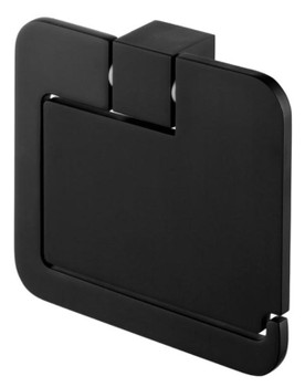 Toilet Paper Rack Roll Holder with Flap Modern WC Black Powder Coated Zamak from Toilet roll holders