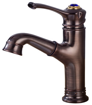 Dark Brass Kitchen Sink Water Faucet Deck Mounted Tap Pull Out Aerator Handle from Kitchen taps