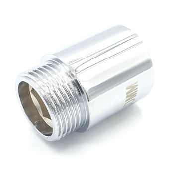 3/4 Inch Tap Pipe Thread Extension Female x Male Chrome Brass