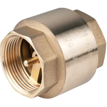 Spring Non-Return Check Valve One Way Female x Female 12 Bar Brass