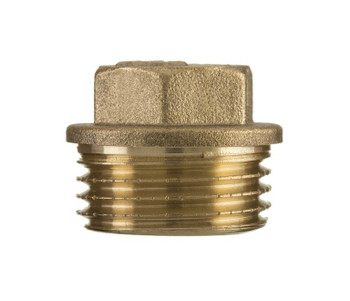 Pipe Blanking Plug Hex Male Tube End Cap Brass 3/8 1/2 3/4 1 Inch