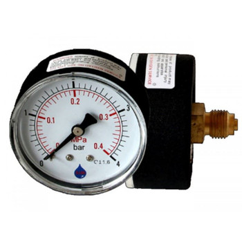 Water Pressure Gauge Manometer 1/4 Inch Rear/Back Entry 63mm Dial