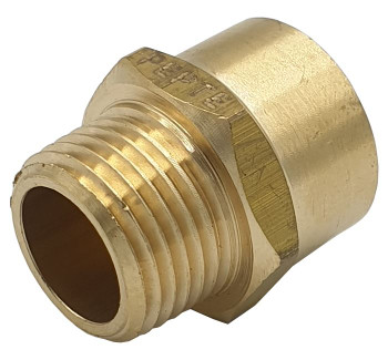 "3/8"" Female x Male BSP x NPT Connector Thread Adaptor UK Thread to American"
