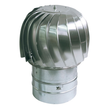 Spinning Chimney Cowl Aluminum Downdraught Ventilation Extraction 130 - 500mm