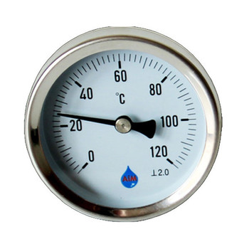 Industrial Temperature Metal Gauge Dial Probe 1/2 BSP Rear Entry Thermometer from Temperature gauges