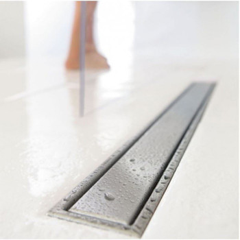 Wirquin Wetroom Bathroom Floor Linear Shower Drain 70-110cm Stainless Steel