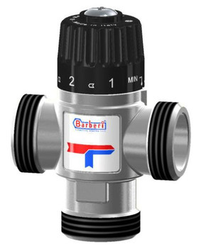 """Thermostatic Mixing Valve Side Way Port Outlet Mixed Water 3/4"""" - 1"""" Male BSP"""