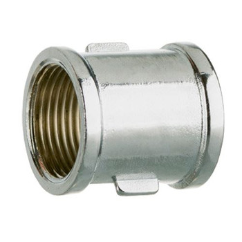 1/2 3/4 Inch Thread Pipe Plumbing Coupler Chromed Fittings Muff