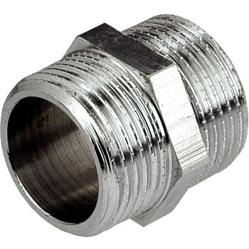3/8 1/2 3/4 Inch Male Thread Pipe Nipple Connection Fittings Chromed