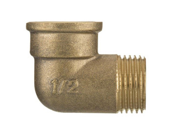 3/8 1/2 3/4 1 Inch Brass Threaded Pipe Elbow Male x Female Screwed Fittings