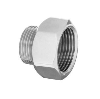 Pipe Thread Reducer Hexagon Fittings Chrome Female x Male 3/8 1/2 3/4 Inch