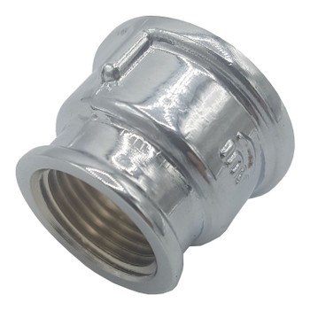 Chromed Threaded Pipe Coupling Redcucer Female Fittings 1/2 x 3/8 3/4 x 1/2