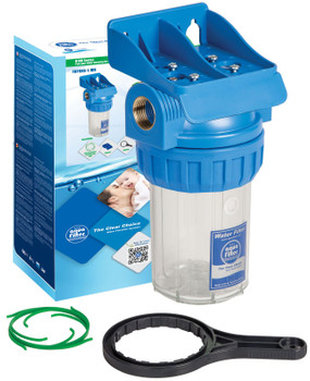 5 Inch Water Filter Housing In-line Water Filtration Set 1/2 3/4 1 Inch BSP