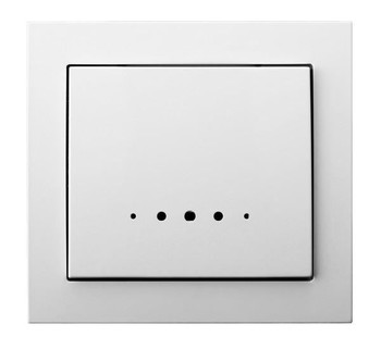 Single Big Button Indoor Light Switch Wall Plate with Light Various Colours