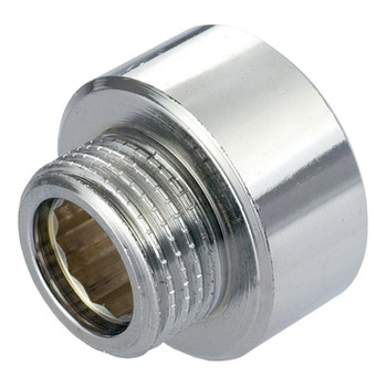 Round Pipe Thread Reduction Fittings Chrome 1/2x3/8 3/4x1/2