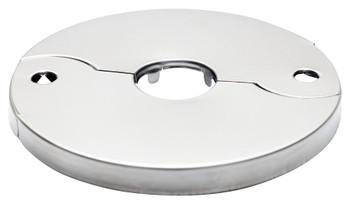 Split Two-Piece Snappit Pipe Covers Tap Collar Chrome Steel