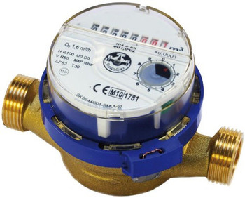 Cold Domestic Water Meter Flow 1/2 3/4 Inch 15/20mm Pipe