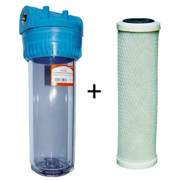 """10"""" Whole House Water Filter Set Carbon Sediment 1/2 3/4 1 Inch"""