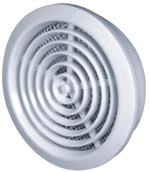 80mm Round Door Hole Air Vent Grille Cover White/Brown