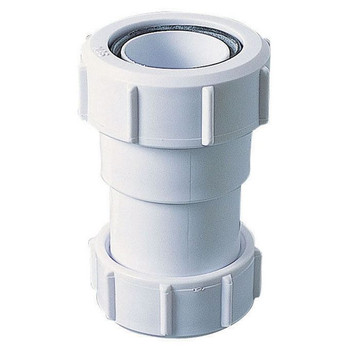 PVC Tube Fitting Sleeve Connector EU to UK Adaptor Pipe Conversion Reduction
