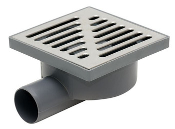 Stainless Steel Grid 150x150mm Garage Floor Ground Waste Drain Gully Trap